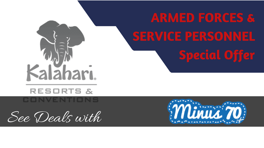 Kalahari Resorts special offers military police fire personnel